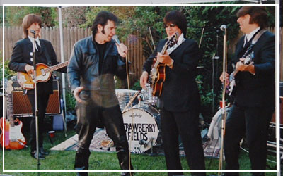 Steve Mitchell Performing with Beatles Tribute Band Strawberry Fields